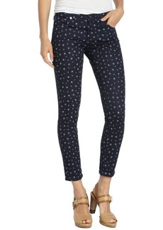 AG Adriano Goldschmied star print dark wash stretch cotton ankle legging jeans
