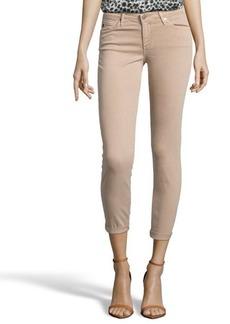 AG Adriano Goldschmied sulfur sandstone stretch cotton 'Stilt Roll-Up' skinny jeans