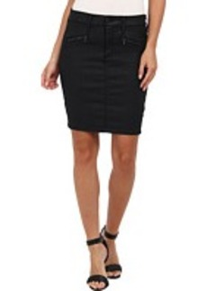 AG Adriano Goldschmied The Kodie Pencil Skirt in Black Slick