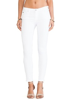 AG Adriano Goldschmied The Legging Ankle Zip in White