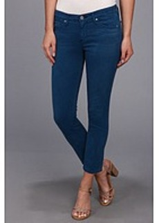 AG Adriano Goldschmied The Stilt Crop Sateen in Hi-White Full Moon Blue
