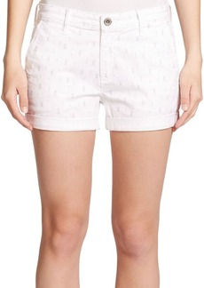 AG Adriano Goldschmied Tristan Printed Denim Shorts