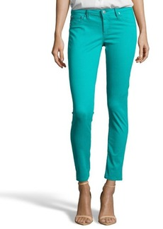 AG Adriano Goldschmied turquoise stretch denim 'The Legging Ankle' skinny jeans
