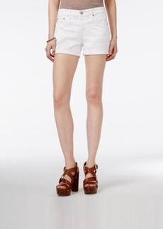 Ag Cuffed White Wash Denim Shorts
