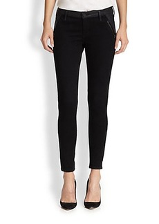 AG Adriano Goldschmied Willow Coated-Panel Skinny Jeans