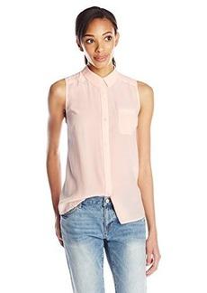 AG Adriano Goldschmied Women's Meadows Sleeveless Silk Shirt