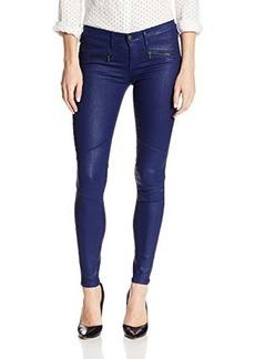 AG Adriano Goldschmied Women's Moto Zipper Legging Jean In Mariner