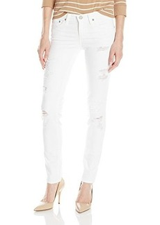 AG Adriano Goldschmied Women's Stilt Cigarette Leg Jean, 1 Year White Mended, 26