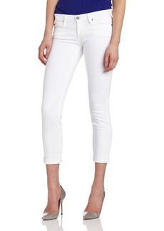 AG Adriano Goldschmied Women's Stilt Roll Up Cigarette Jean in White