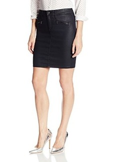 AG Adriano Goldschmied Women's Kodie Biker Pencil Skirt In Blackslick
