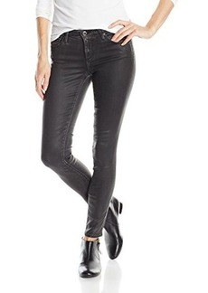 AG Adriano Goldschmied Women's The Legging Ankle Super Skinny Leatherette Black, Vintage Leatherette Black, 30