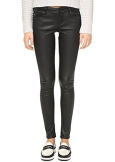 AG Adriano Goldschmied Women's The Legging Skinny Leather, Super Black, 26