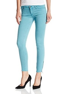 AG Adriano Goldschmied Women's Zip-Up Legging Ankle Jean In Sulfur Blue Mirage