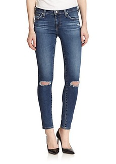 AG Alexa Chung For AG Distressed Legging Ankle Jeans