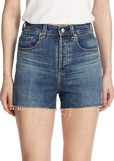 AG Alexa Chung For AG The Fifi High-Rise Cut-Off Shorts