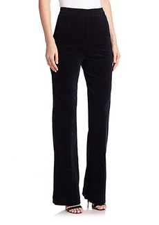 AG Alexa Chung for AG The Laura Velvet High-Waist Trousers