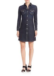 AG Alexa Chung For AG The Pixie Denim Mini Dress