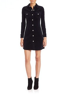 AG Alexa Chung for AG The Pixie Fitted Corduroy Shirtdress