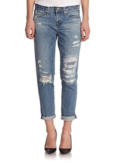 AG Beau Distressed Slouchy Skinny Jeans
