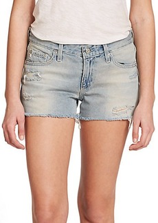 AG Bonnie Distressed Cut-Off Denim Shorts