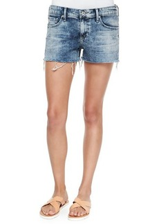 AG Bonnie Faded Cutoff Shorts, Moonbeam Rip