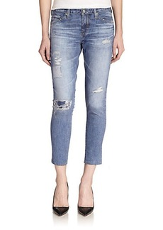 AG Digital Luxe Distressed Legging Ankle Jeans