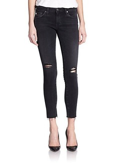 AG Distressed Legging Ankle Jeans