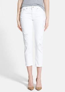 AG 'Ex-Boyfriend' Slim Crop Jeans (White)