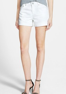 AG 'Hailey' Boyfriend Shorts (1 Year White)