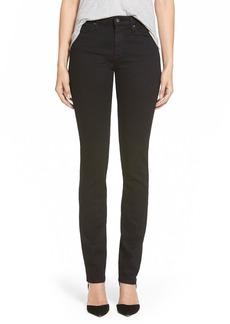 AG 'Harper' Slim Straight Leg Jeans (OverdyedBlack)