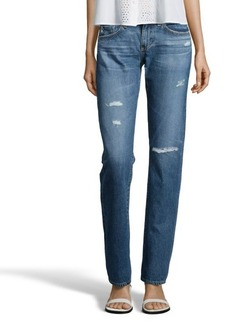 AG Jeans 13 years wildwood distressed cotton denim 'The Tomboy' relaxed straight jeans