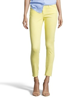 AG Jeans canary yellow denim 'The Legging Ankle' super skinny jeans