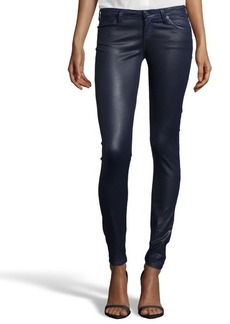 AG Jeans coated cobalt 'Leatherette Legging' jeans
