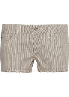 AG Jeans Daisy striped stretch-cotton shorts
