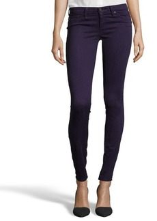 AG Jeans deep purple diamond printed denim super skinny 'The Legging' jeans