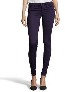 AG Jeans deep purple diamond printed denim super skinny 'The Legging' jeans