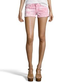 AG Jeans dusty pink tie-dye cotton blend 'Daisy' shorts