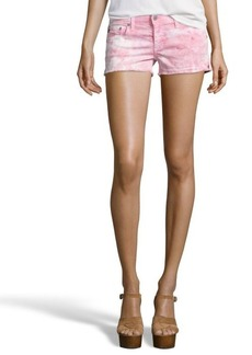 AG Jeans dusty pink tie-dye cotton blend 'Daisy' shorts