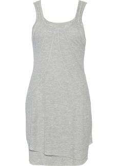AG Jeans Layered ribbed jersey mini dress