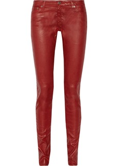 AG Jeans Legging coated low-rise skinny jeans