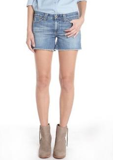 AG Jeans light blue wash 'Frayed' denim shorts