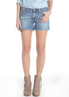 AG Jeans light blue wash 'Frayed' denim shorts