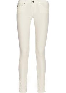 AG Jeans Mid-rise velvet skinny jeans