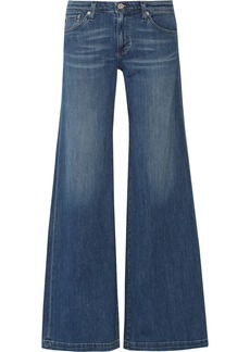 AG Jeans Mid-rise wide-leg jeans