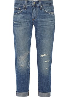 AG Jeans Piper distressed cotton-blend boyfriend jeans