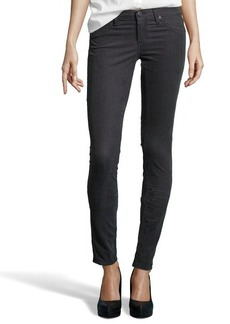 AG Jeans steel grey houndstooth cotton 'The Legging' skinny jeans