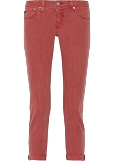 AG Jeans Stilt striped low-rise straight-leg jeans