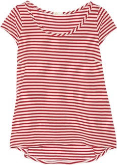AG Jeans Striped cotton and modal-blend jersey T-shirt