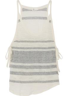 AG Jeans Striped cotton-blend tank