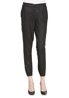 AG Kelsey Faux-Leather Track Pants